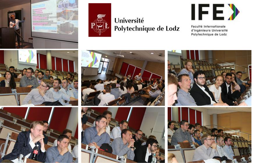 Echanges, rencontres avec la Faculté internationale d'ingénierie de Lodz