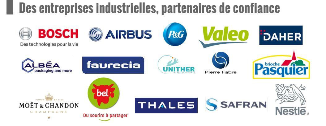 Des partenaires industriels fidèles