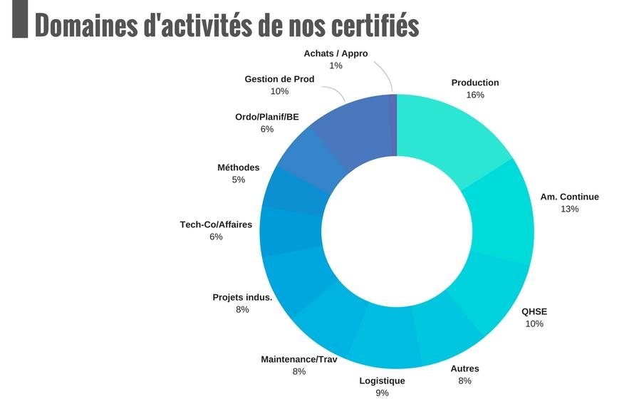 Les domaines d'activités dans lesquels exercent nos diplômés