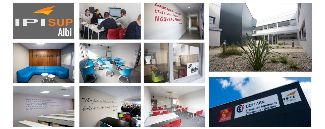 IPI, Albi, des espaces co-working, des lieux de détente, des salles projets