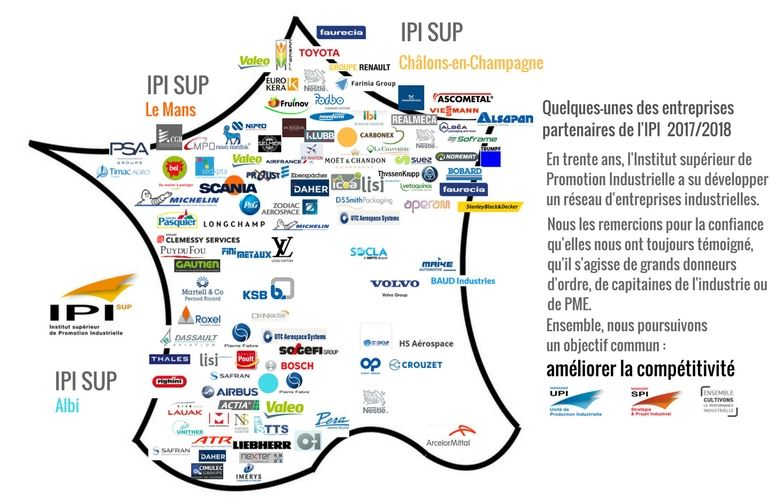 Nos partenaires industriels : Airbus, Michelin, Daher, Toyota...