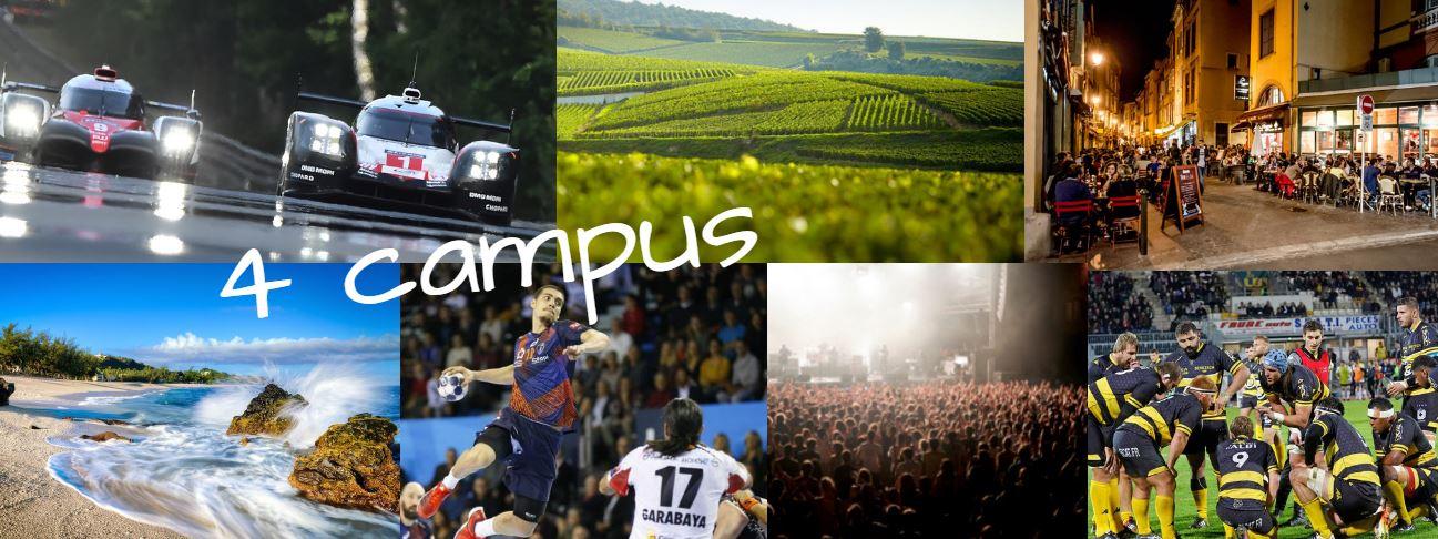 L'IPI, 3 campus en France Métropolitaine et 1 en DOM-TOM