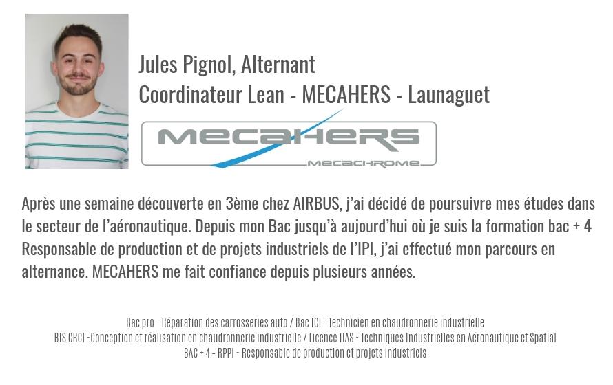 Jules Pignol, alternant chez MECAHERS en Bac + 4