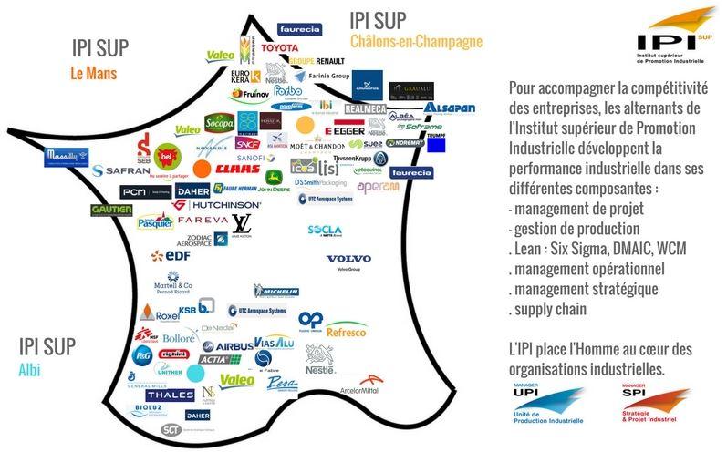L'IPI est présente sur la totalité du territoire français
