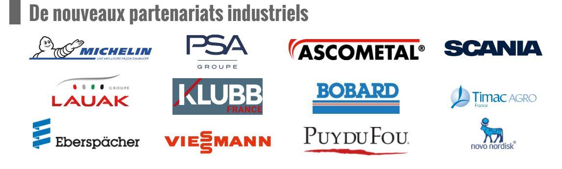 De nouveaux partenaires industriels